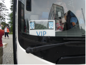 The VIP bus just arrived at KOLI.